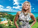 Ashley Roberts in St Lucia