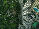 Two very different sides to Hong Kong: An aerial shot of Ma Shi Po which is a farming village in the northeastern part of Fanling in the New Territories and located beside some newly built residential buildings