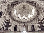 Vaulting ambition: An abandoned former palace turned luxury hotel in central Italy, now abandoned. Ernest Sébastien of Belgium says he is trying to preserve such places before they are completely forgotten