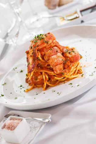 "<span class=""cutline_leadin"">At Touché: </span>Lobster Fra Diavolo is on Touché?s Miami Spice menu."