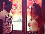 Purchase: Mario Balotelli and his girlfriend Fanny Neguesha do some shopping in the Puma store