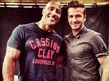 Pose: Dwayne 'The Rock' Johnson and David Beckham took the photograph together