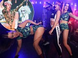 Wrecking Ball imminent? Lily Allen channels Miley Cyrus with twerking, leotards and outlandish Sydney show hosted by Sophie Monk and Merrick Watts