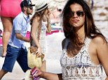 Taking his mind off things! Neymar's girlfriend Bruna Marquezine wows in crochet dress as they stroll along Spanish beach together