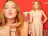 Demure Lindsay Lohan is pretty in peach dress for Austrian festival appearance after enjoying Italian vacation