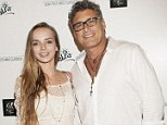 New romance: Steven Bauer and 18-year-old Lyda Loudon pictured together at the Magic In The Moonlight premiere on July 21