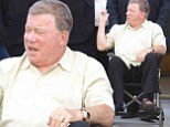 Wheel me up Scotty! William Shatner is left wheelchair-bound at Comic-Con after a horse riding accident