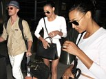 Mr and Mrs: Naya Rivera and Ryan Dorsey arrived back at LAX on Thursday