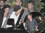 Catching up with the Ramsays! David and Victoria Beckham leave children at home as they enjoy double dinner date with Gordon and Tana in Malibu