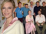 'It's always great when you can kill off some main characters': Peter Jackson promises bloodbath in final Hobbit film... as Cate Blanchett is an elvish delight at Comic Con