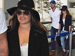California dreaming! A tanned Lea Michele and new boyfriend Matthew Paetz jet back to Los Angeles after romantic getaway