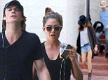 Nikki Reed and Ian Somerhalder fuel romance rumours as they head home together after working up a sweat at gym