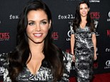 Monochrome madness! Jenna Dewan-Tatum stuns in black and white patterned dress as she attends Comic-Con event for her Lifetime show