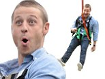 That's one way to watch over Gotham! Ben McKenzie takes the plunge and zip-lines at Comic-Con