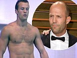 A throwback that makes a splash! Hollywood action star Jason Statham dives for England at Commonwealth Games almost 25 YEARS ago