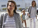 Off to work with Mum! Proud parent Jessica Alba treats her eldest daughter Honor, six, to a grown-up day at the office
