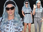 'I'm such a cool cat!' Kesha wears same feline print in TWO different outfits on promo tour