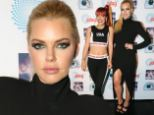 Legging it! Sophie Monk steals the show stepping out in jaw-dropping black dress with thigh-high split while star Lily Allen chooses tracksuit pants and crop top