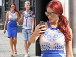 Amy Childs takes a selfie