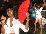 'Hope you undressed appropriately': A sweaty Sinitta flashes her pants as she shocks fans with energetic performance