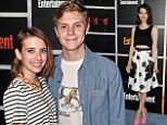 Twice as nice! Emma Roberts steps out in a nautical-style striped top... before switching to glam cocktail attire on same night as she works Comic-Con