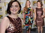 Stark contrast! On-screen sisters Maisie Williams and Sophie Turner display their very different styles at Game Of Thrones Comic-Con panel