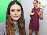 Graceful in grey: Elizabeth Olsen appeared sophisticated chic as she arrived at the Microsoft VIP Lounge to scope out Skype for Xbox at Comic-Con in San Diego on Saturday