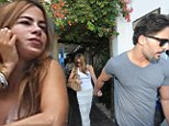 The look of love! Sofia Vergara is whimsical in white before a lunch date with new boyfriend Joe Manganiello in a sexy sheer skirt