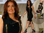 She's out of this world! Salma Hayek dons tight black zipper dress and futuristic heels as she takes the stage at Comic-Con