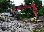 Demolished: The couple's home was razed for code violations and Jimenez's wife didn't even have time to take out all their belongings
