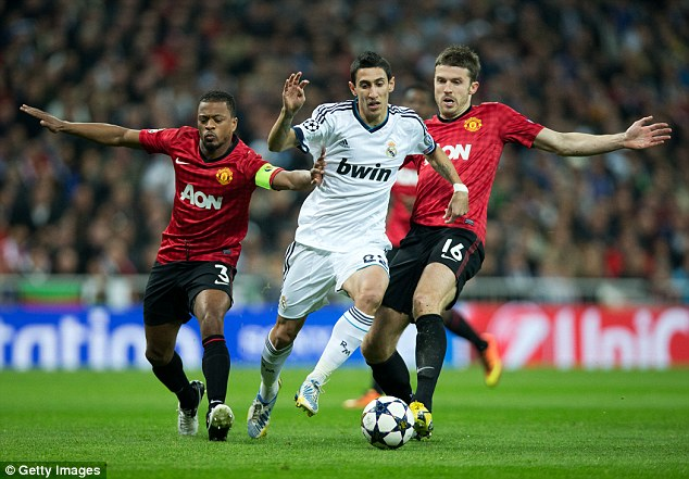 Top form: Di Maria had an excellent season for Real Madrid last year, including helping to win 'la decima'