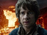 Smaug's revenge, a town on fire AND the evil Eye Of Sauron: First look at trailer for The Hobbit: Battle Of The Five Armies