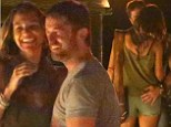 Ladies man: Gerard Butler was seen on a romantic dinner date with a mystery brunette in Malibu, Los Angeles on Sunday