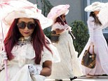 Senseless and sensibility! Snooki and JWoww push their boundaries by dressing up as Victorian ladies in New Jersey