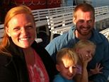 Another victim: Dr Kent Brantly, pictured with his wife and children who were with him in Africa until recently, but who officials don't believe have the virus