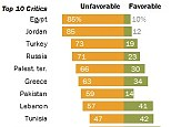The Washington haters: Figures from the Pew Research Center reveal the top ten biggest critics of the U.S. based on a survey of citizens from 44 countries