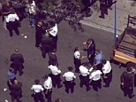 A cop and two US marshalls were shot today in the West Village