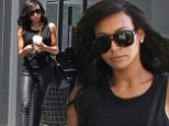 Newlywed Naya Rivera Dorsey dons skintight leather trousers as she steps out solo on smoothie run