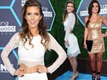Too much Hills walking? Audrina Patridge looks skinnier than ever in white lace crop top and matching skirt at Young Hollywood Awards