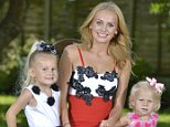Pic Bruce Adams / Copy Unknown - 24/7/14 For Femail - Blinging Up Baby Tv mother Sophie May Dickson with her 'Bling babies' Princess Bliss,4, and Precious Bell,2, at her home in Canvey Island, Essex.