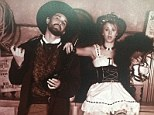 Kaley Cuoco and husband Ryan Sweeting dressed up for a vintage-inspired Wild West photo during his visit to her film set for Burning Bodhi on July 27