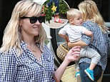 Mother-son time: Reese Witherspoon took her little one Tennessee out to a pal's house in Los Angeles on Sunday