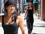 Strong-armed and dangerous! Michelle Rodriguez shows off her impressive biceps as she heads into nail salon in Los Angeles