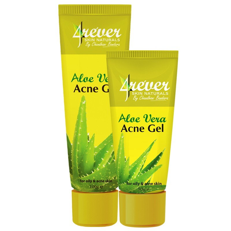 Aloe vera treatment products for acne