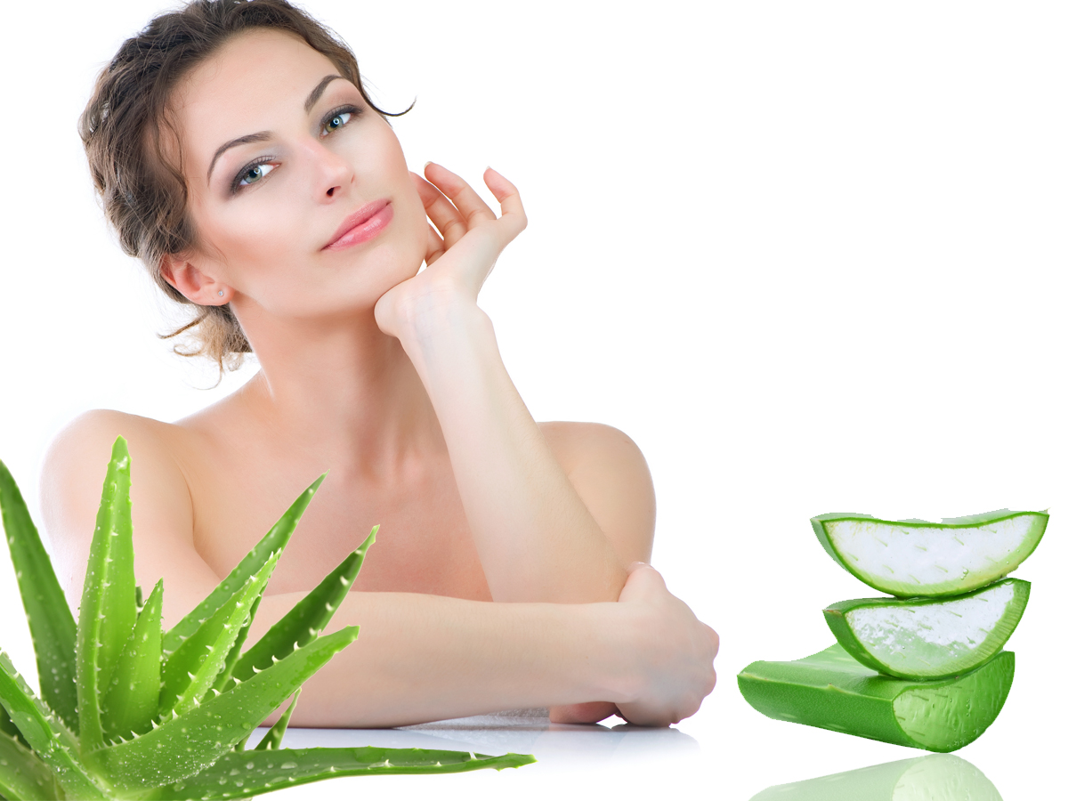 Aloe vera products for acne