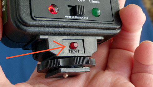 Labeled Test Button