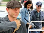 High flying friends! Daniel Craig and wife Rachel Weisz get dropped off at East Hampton airport by pal Steven Spielberg