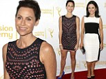 Minnie Driver and Julia Louis-Dreyfus lead in the glamour stakes as they celebrate their Emmy nominations at a Beverly Hills party