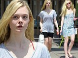 Switching it up: Elle Fanning looked relaxed as she visited The Dance Store in Culver City, before dressed up for the nail salon in Studio City on Monday