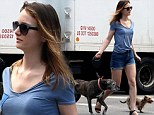 She loves her dogs! Leighton Meester takes pooches Trudy and Penny Lane out for daily walk in New York City